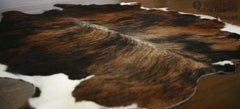 Dark Brindle European Large Cowhide Rug 6'9