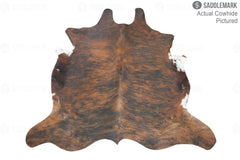 Dark Brindle European Medium Cowhide Rug 5'6