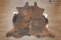 Dark Brindle European Large Cowhide Rug 5'6