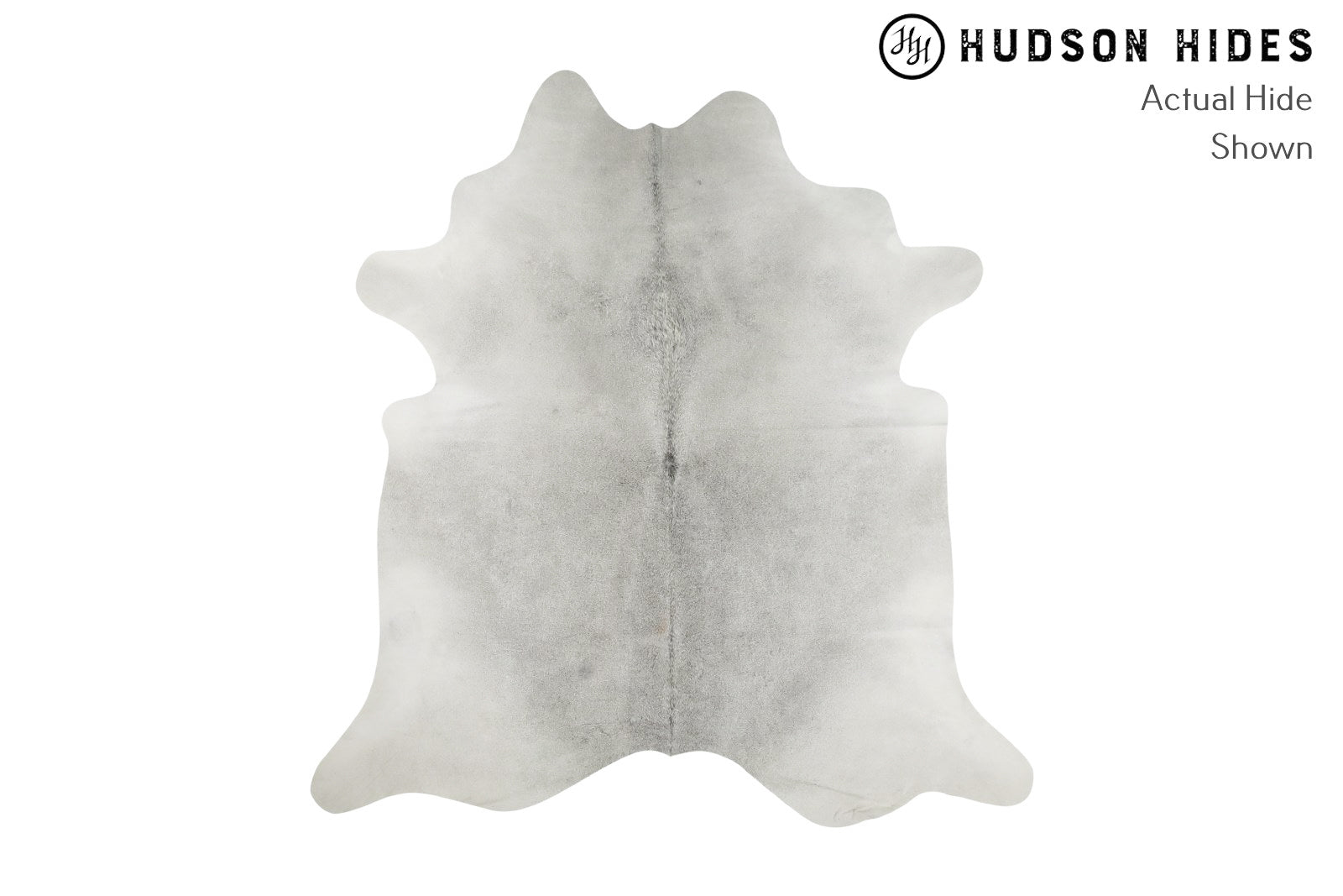 "Medium Grey XX-Large Brazilian Cowhide Rug 8'1""H x 7'5""W #8231 by Hudson Hides"