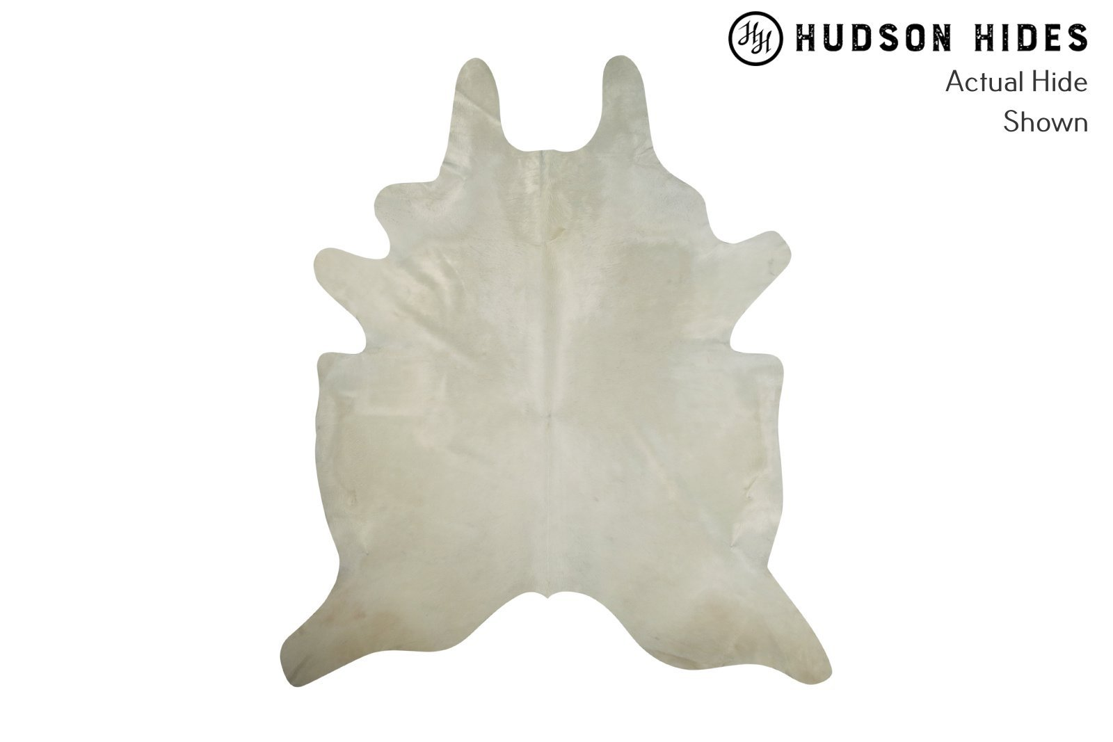 Solid White Cowhide Rug #8260