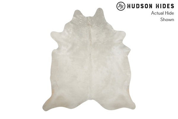 Solid White Cowhide Rug #8396
