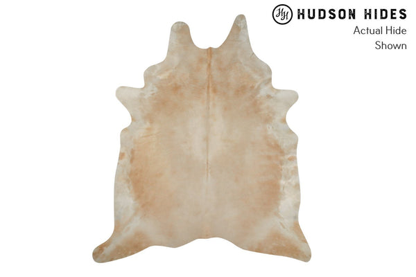 Beige And White Cowhide Rug #8643