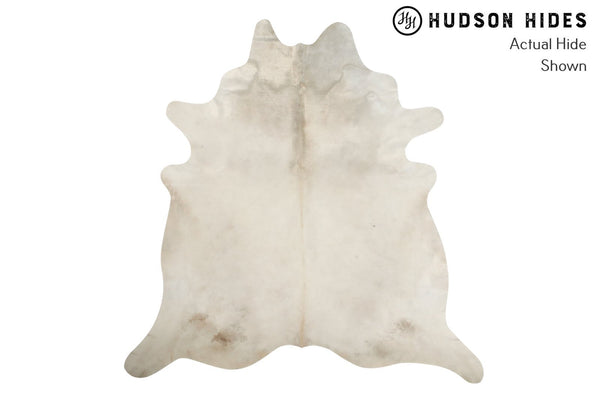 Solid White Cowhide Rug #8866