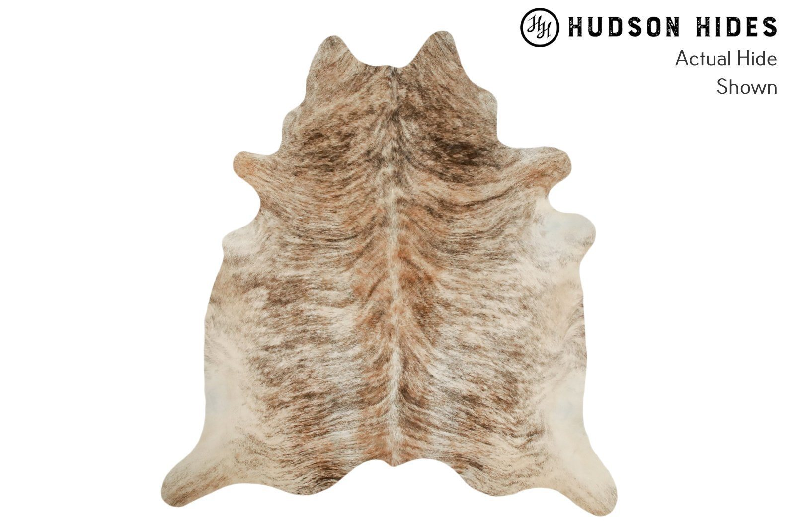 "Light Brindle X-Large Brazilian Cowhide Rug 7'2""H x 6'7""W #8870 by Hudson Hides"