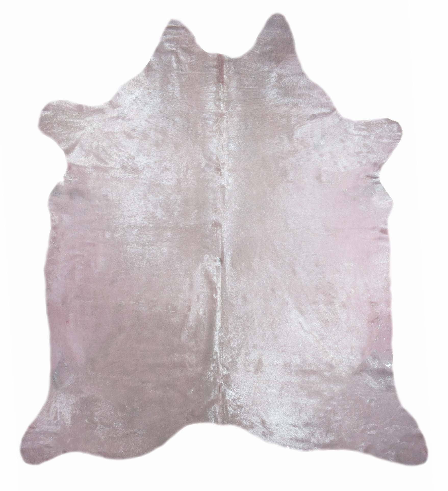 Pink with Silver Frost Cowhide Rug #1001PNKSF