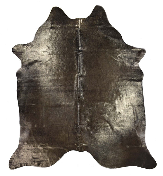 Black with Gold Frost Cowhide Rug #1001DRKGF