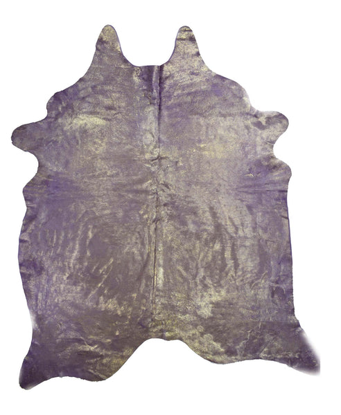 Purple with Gold Frost Cowhide Rug #1001PURPGF