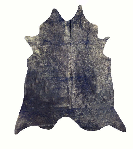 Blue with Gold Frost Cowhide Rug #1002DRKGF