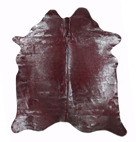 Red with Silver Frost Cowhide Rug #1001REDSF