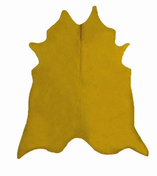 Yellow Dyed Cowhide Rug #1001YLW