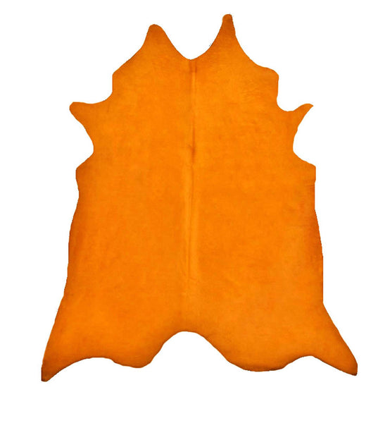 Orange Dyed Cowhide Rug #1001ORNG