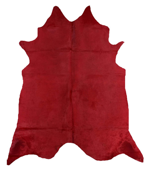 Red Dyed Cowhide Rug #1001RED