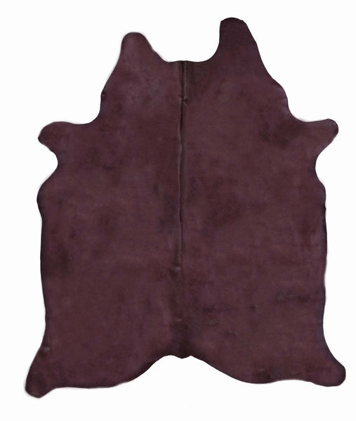 Purple Dyed Cowhide Rug #1001PURPL