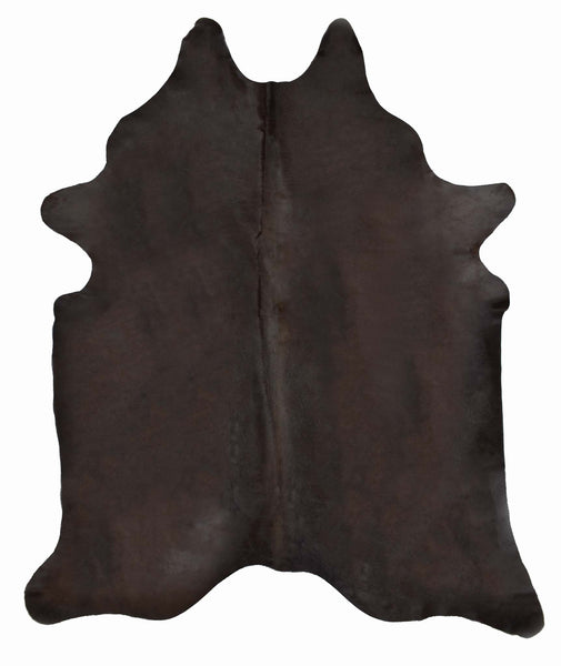 Dark Brown Dyed Cowhide Rug #1001BRWN