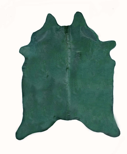 Emerald Dyed Cowhide Rug #1001EMERLD