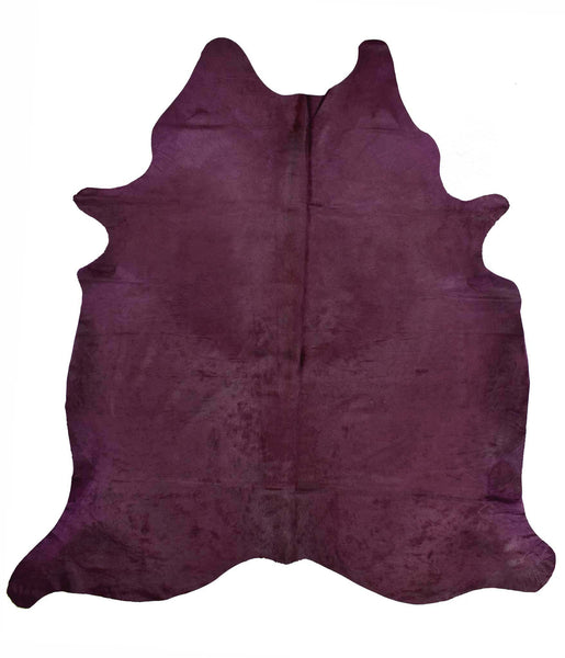 Purple Dyed Cowhide Rug #1002PURPL
