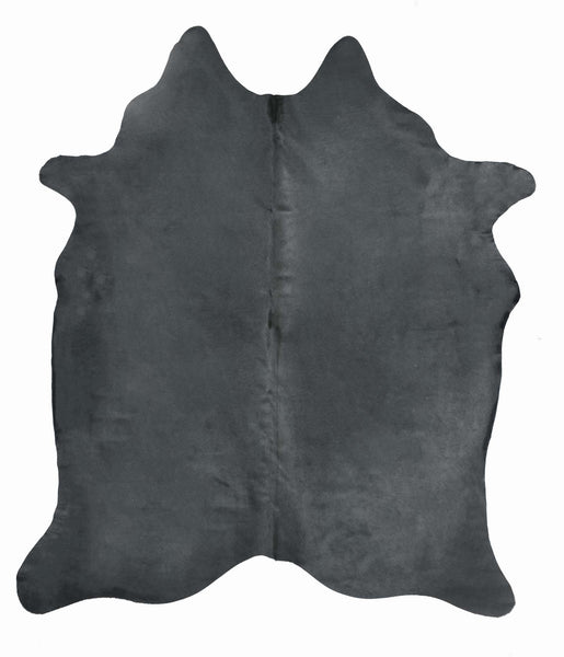 Charcoal Dyed Cowhide Rug #1001CHAR