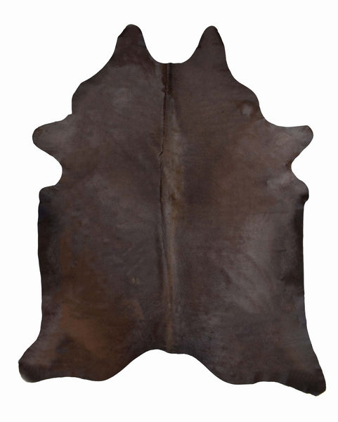 Dark Brown Dyed Cowhide Rug #1001DRKBROWN