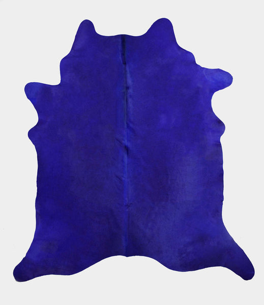 Royal Blue Dyed Cowhide Rug #1002BLUE