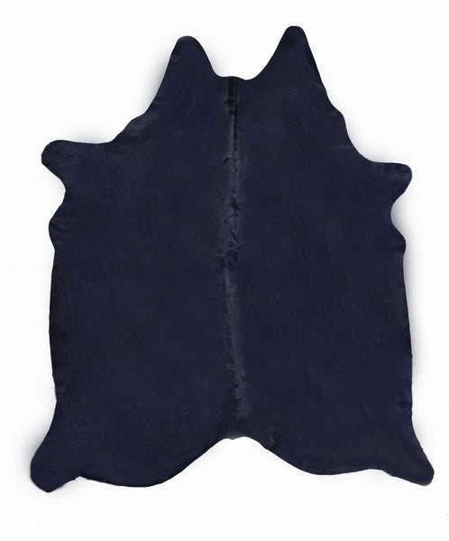 Dark Blue Dyed Cowhide Rug #1003BLUE