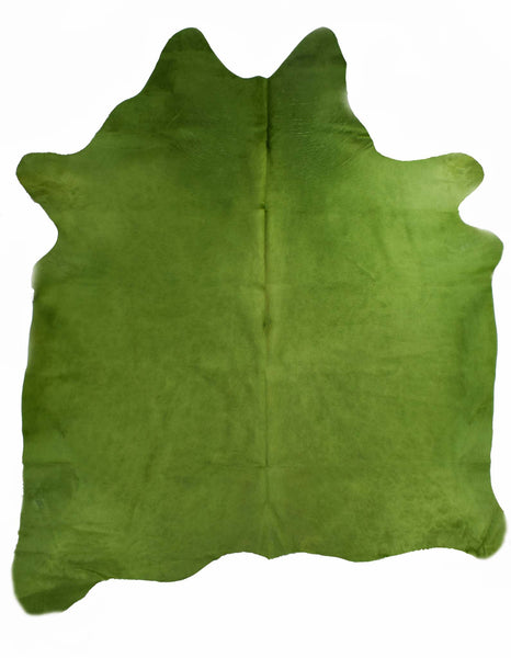 Lime Dyed Cowhide Rug #1001LIME