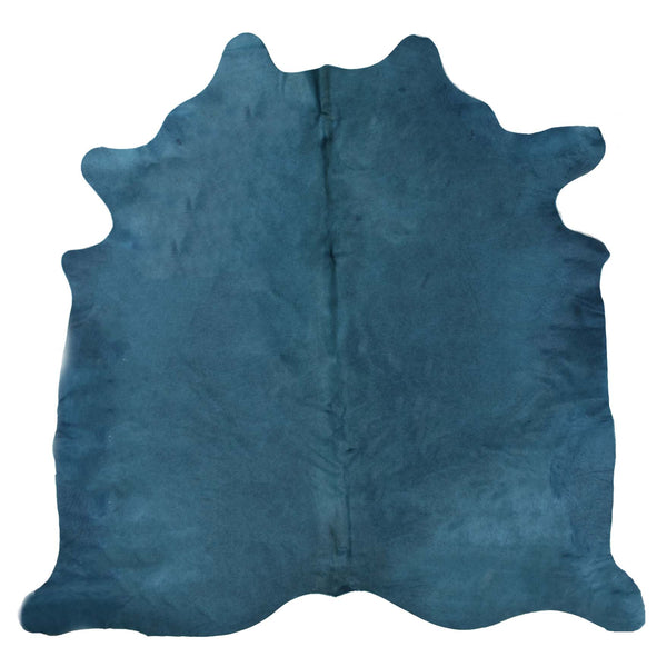 Turquoise Dyed Cowhide Rug #1001TURQ