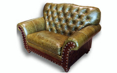 Victoria tufted Chair and 1/2