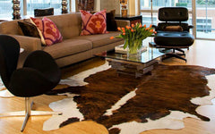 Medium Brindle Cowhide Rug