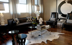 Salt & Pepper Black Cowhide Rug