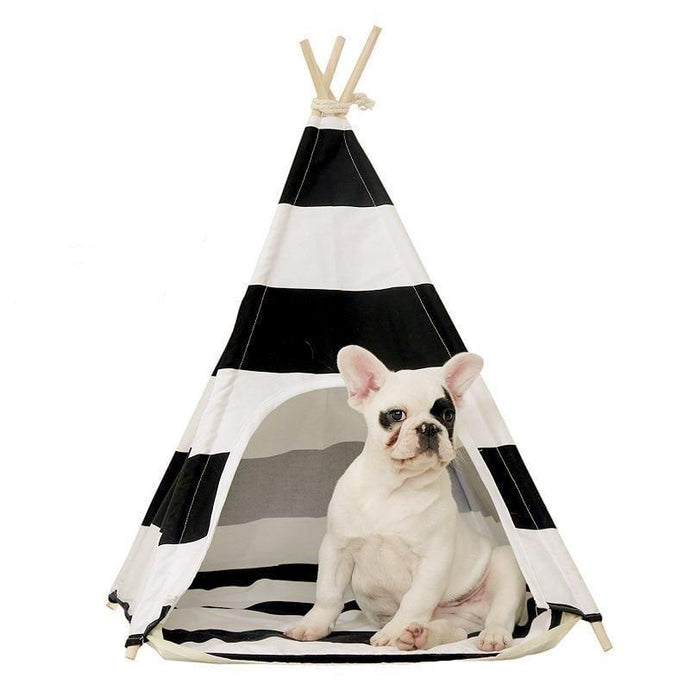 Dog Teepee in Cotton Stripe