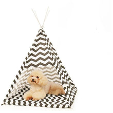 Dog Teepee in Chevron Print