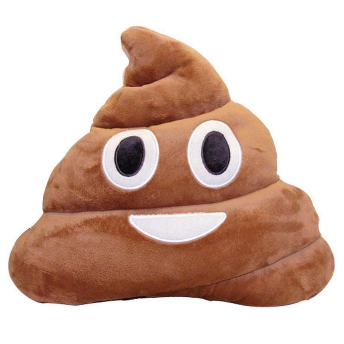 Poop Emoji Dog Pillow Toy