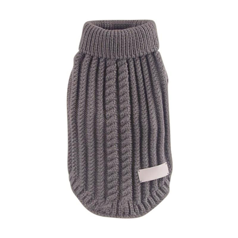 Cableknit Dog Turtleneck - Gray