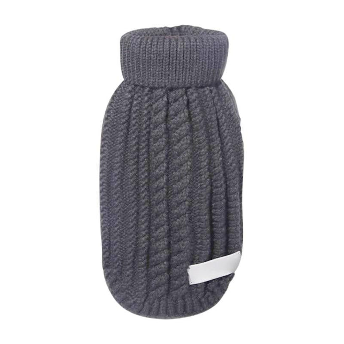 Cableknit Dog Turtleneck - Black