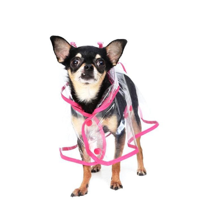 CITY Raincoat - Transparent Dog Raincoat Pink