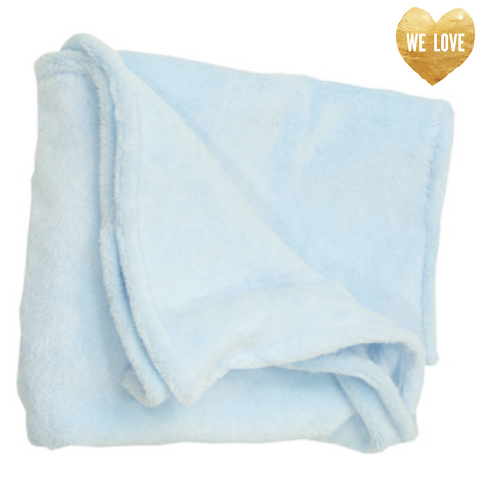 Baby Blue Whisper Fleece Dog and Baby Blanket