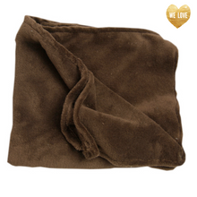 Chocolate Brown Plush Whisper Fleece Blankie