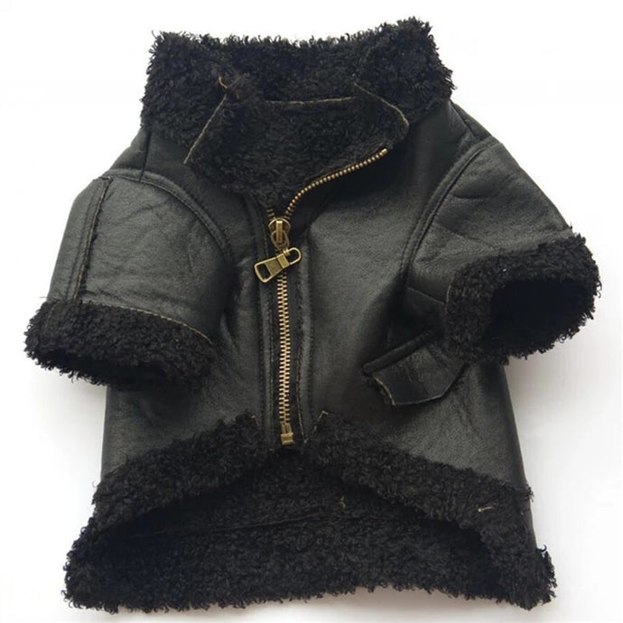 Aviator Dog Jacket - Black