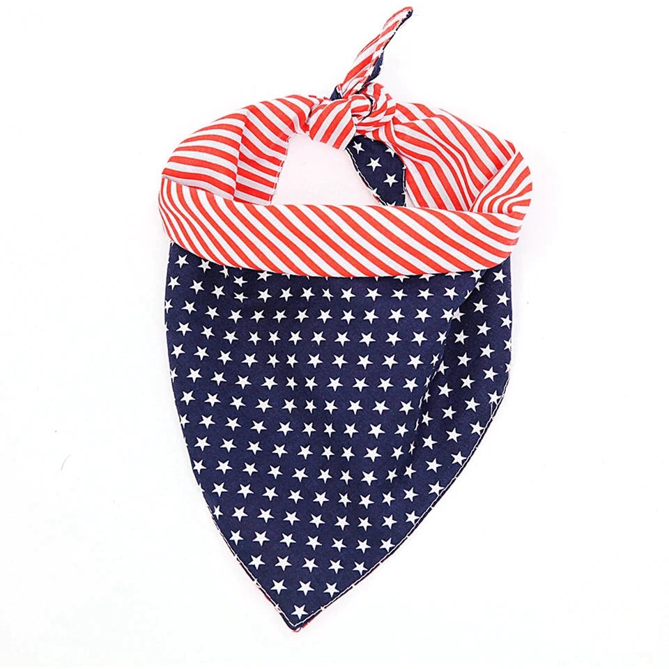 American Flag Cotton Dog Bandana