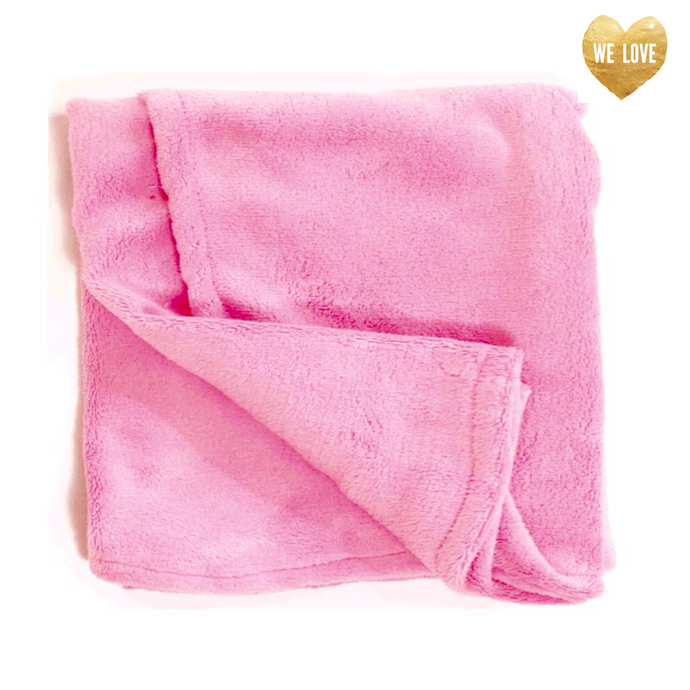 Pink plush Whisper Fleece Blankie