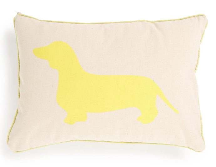 Breakfast Dachshund Pillow Sham - Citron