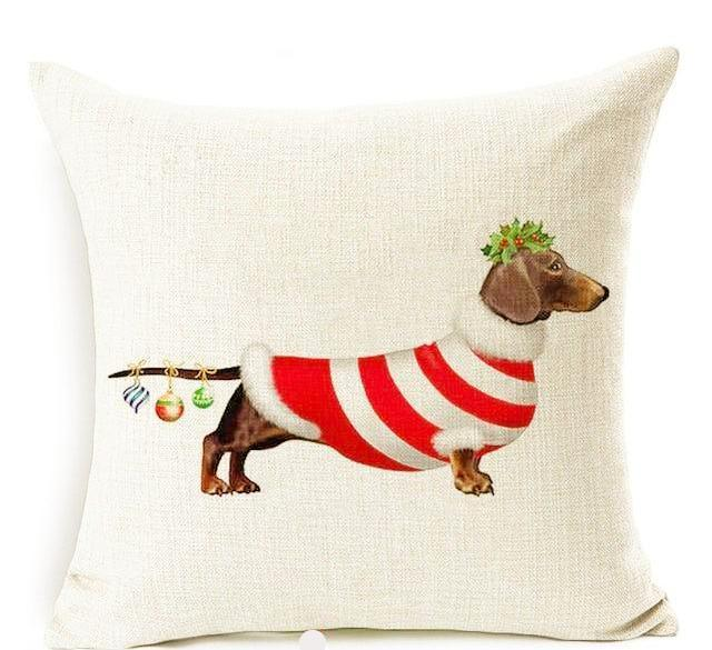 Dachshund Lover Holiday Pillow Sham