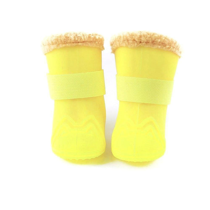 Dog Rubber Wellies with Sherpa Lining 4 pck