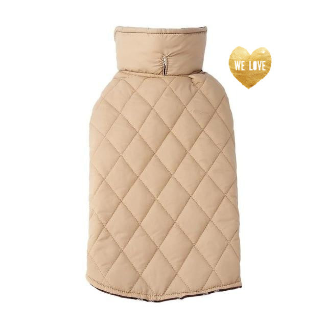 Warmest Quilted Dog Jacket - Crème