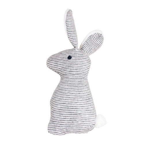 Rabbit Ear Dog Doy in Striped Cotton