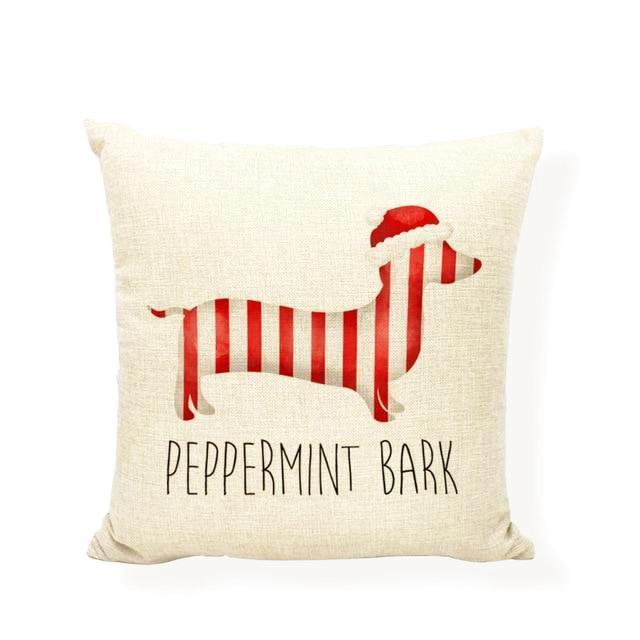 Dachshund Peppermint Bark Pillow Sham