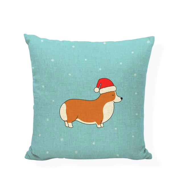 Corgi Lover Holiday Pillow Sham