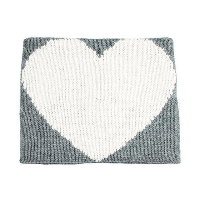 J'Adore - LOVE - Knit Blankie - Grey