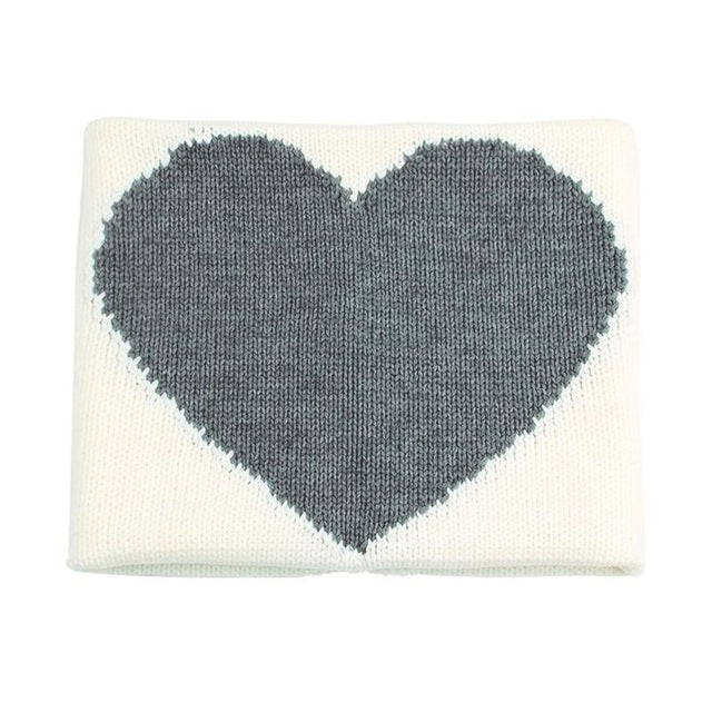 J'Adore - LOVE - Knit Blankie - Ivory